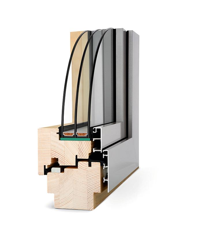 Okno drewniano - aluminiowe
